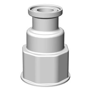 "Spigot Fitting, VersaBarb, 1 1/8"" Thread, 3/4"" Sanitary Connector"