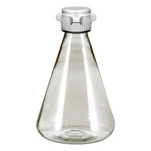 Erlenmeyer Flask, PC, 2L, Flat Base, VersaCap 50mm (53B) Non Sterile, EZclear, case/6