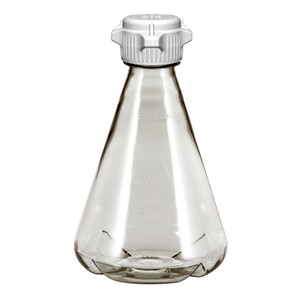 Erlenmeyer Flask, PC, 2L, Baffle, VersaCap 50mm (53B) Vented, Sterile, EZclear, case/6
