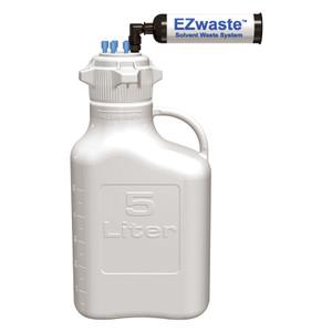 EZwaste System, 5L Bottle, 83B VersaCap, 6 Ports (1/8 OD) Carbon Filter