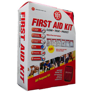 Soft Sided First Aid Kit, 101 Piece, case/16