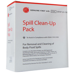 Spill Clean-up Pack First Aid Kit, case/12
