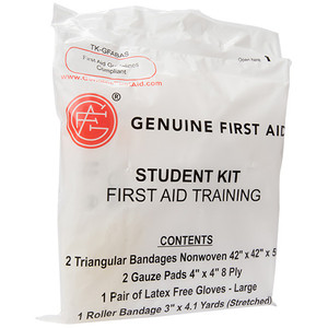 First Aid Student Training Kit, case/100