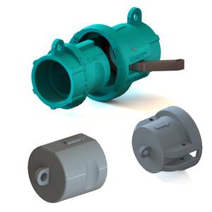 "2"" NPT Chemical Safety Coupling Kit (includes Cap, Plug) Non-Hazardous"
