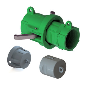 """2"""" NPT Chemical Safety Coupling Kit (includes Cap, Plug) For Reducers"""
