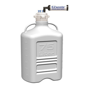 EZwaste System, 75L Bottle, 120mm VersaCap, 6 Ports (1/8 OD) Carbon Filter