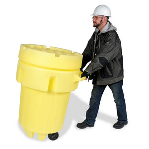 UltraTech 0584 Overpack Plus Drum Containment, Wheeled, 95, Yellow
