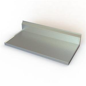 "Stainless Steel Countertop, 24"" D, 10"" backsplash, 14 gauge, 304 SS"