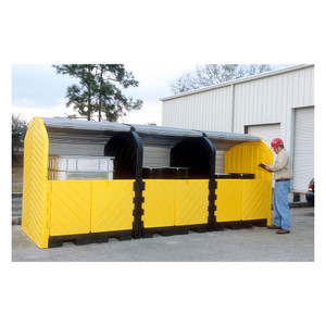 UltraTech 9652 Hard Top 12-Drum Storage Building, Poly, Choose Drain