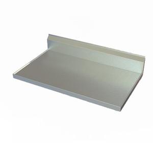 "Stainless Steel Countertop, 30"" D, 10"" backsplash, 14 gauge, 304 SS"