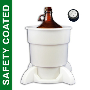 Port Cap System, 4 Liter Coated Glass Bottle, 38mm Cap, Secondary Container