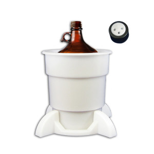 Port Cap System, 4 Liter Glass Bottle, 38mm Port Cap, Secondary Container
