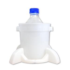 Port Cap System, 2 Liter Media Bottle, GL45 Cap, Secondary Container