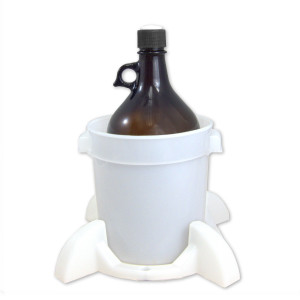 Port Cap System, 2 Liter Amber Bottle, GL38 Cap, Secondary Container