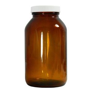 Certified Clean 2.5L Amber Glass Jar, case/12