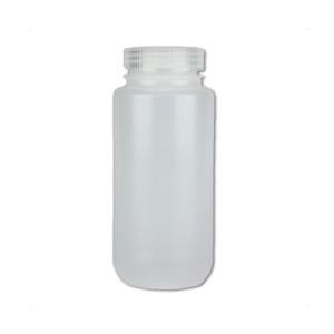 Certified Clean 16oz Wide Mouth Sample Bottle, HDPE, Nalgene, case/24