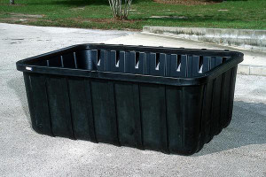 Black Large 550 gal Tank Containment Sump, Choose Drain