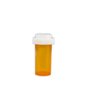 Economy Pharmacy Vials, Amber, Reversible CR, 13 dram (45mL), case/275