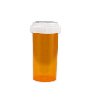 Economy Pharmacy Vials, Amber, Reversible CR, 40 dram (150mL), case/130