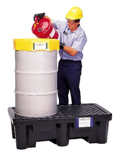 UltraTech 2504 Spill Pallet P2, 2 Drum Economy Model, No Drain, Black