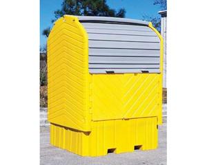 UltraTech IBC Hard Top Storage Shed, Choose Drain