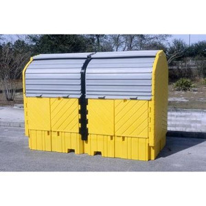 UltraTech 1148 Twin IBC Hard Top Storage Shed, Choose Drain
