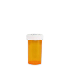Amber Pharmacy Vials, Child Resistant Caps, 13 dram (45cc), case/320