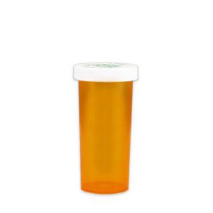 Amber Pharmacy Vials, Child Resistant Caps, 30 dram (110cc), case/240