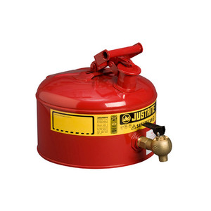 Justrite Safety Can with 08540 Faucet, 2.5 gal, Choose Color