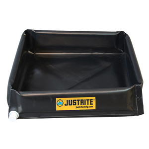 "Justrite Mini 6"" Spill Containment Flex Tray Berm, Choose Size"