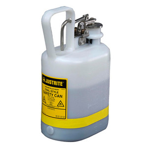 Justrite 12162 Safety Can, Oval Poly, 1 gal, White