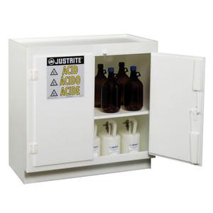 Justrite Freestanding 2-Door Corrosives/Acid Safety Cabinet, White
