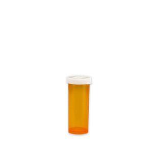 Economy Rx Amber Vials, Easy Snap-Caps, Amber, 6 dram (22cc), case/650