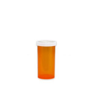 Economy Pharmacy Vials, Amber, Easy Snap-Caps, 13 dram (45mL), case/360