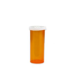 Economy Pharmacy Vials, Amber, Easy Snap-Caps, 16 dram (60mL), case/300