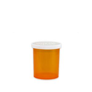 Economy Rx Amber Vials, Easy Snap-Caps, Amber, 20 dram (75cc), case/300