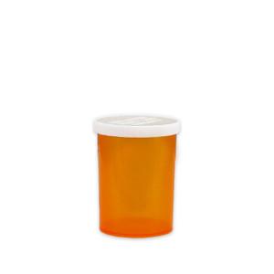 Economy Pharmacy Vials, Amber, Easy Snap-Caps, 30 dram (120mL), case/280