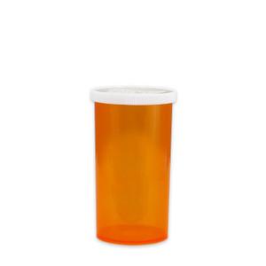 Economy Pharmacy Vials, Amber, Easy Snap-Caps, 40 dram (150mL), case/190