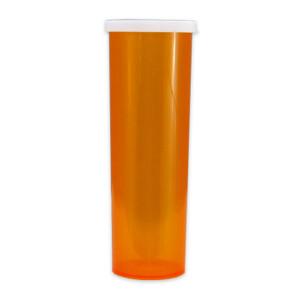 Economy Pharmacy Vials, Amber, Easy Snap-Caps, 60 dram (175mL), case/140