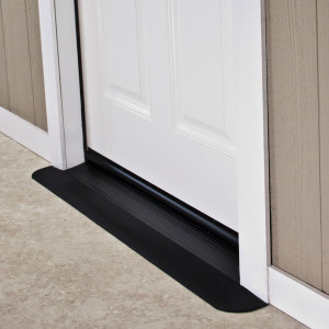 "Threshold Wheelchair Ramp, EZ-Edge, 1/2"" High, Choose Single or Double Door"