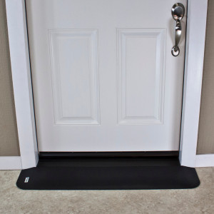 "Threshold Wheelchair Ramp, EZ-Edge, 7/8"" High, Choose Single or Double Door"