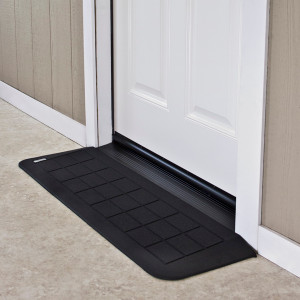 "Threshold Wheelchair Ramp, EZ-Edge, 1 1/4"" High, Choose Single or Double Door"