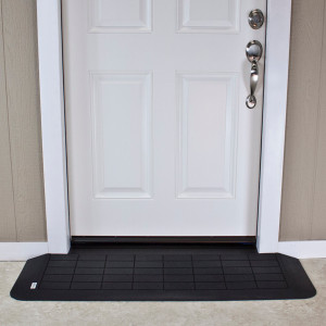 "Threshold Wheelchair Ramp, EZ-Edge, 1 1/2"" High, Choose Single or Double Door"