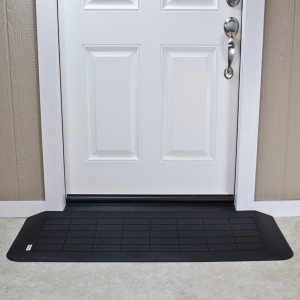 "Threshold Wheelchair Ramp, EZ-Edge, 1 3/4"" High, Choose Single or Double Door"