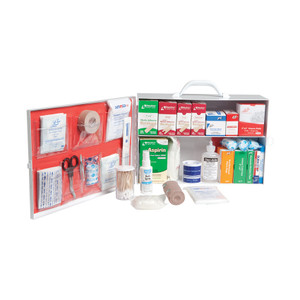 Small 2-Shelf Industrial First Aid Kit Cabinet with Liner