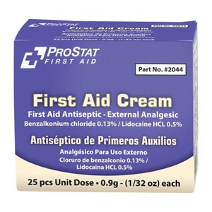 Antiseptic and Analgesic 0.9gm Cream, 24 boxes of 25
