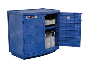 Justrite 24180 Metal-Free Polyethylene Cabinet for Corrosive Chemicals