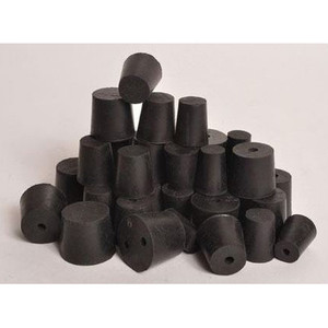 Natural Rubber Stoppers, One Hole, 1 Lb box, Choose Size
