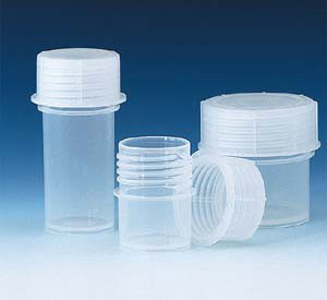 Polypropylene Sample Container, Screw cap, 180mL, pack/10