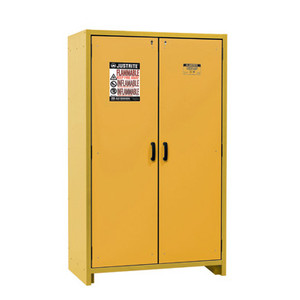 Justrite EN Flammable Safety Cabinet, 30 Minute Rated, 45 Gal, 3 Shelf